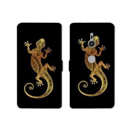Housse cuir portefeuille Sony Xperia XZ2 Animaux Maori