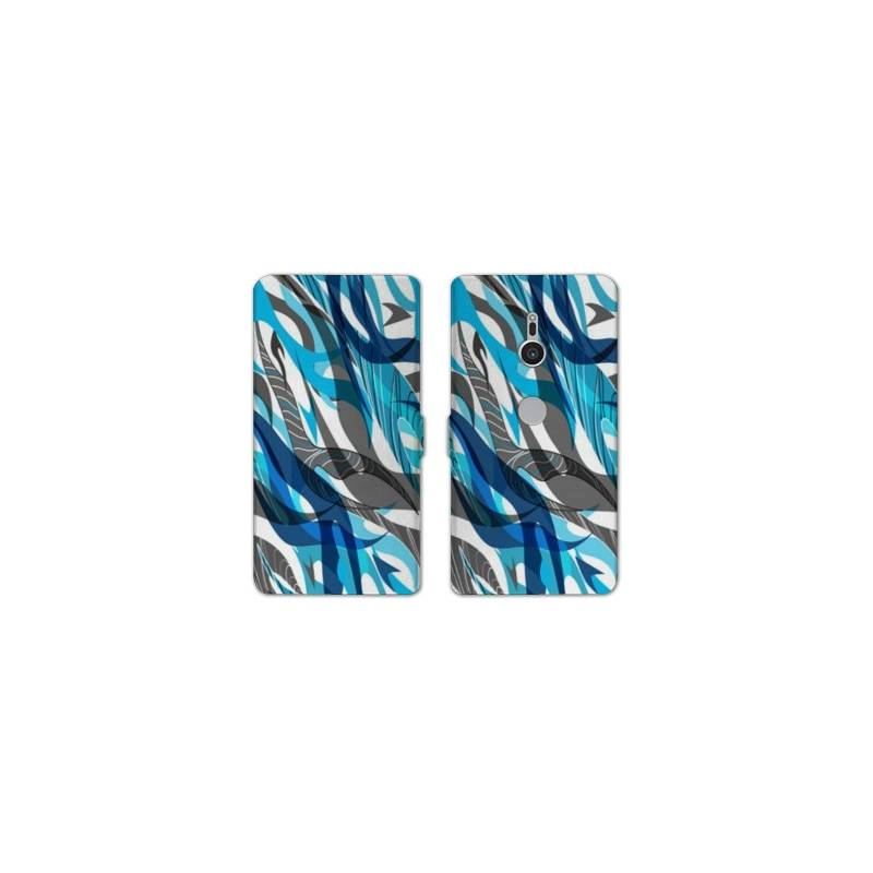 Housse cuir portefeuille Sony Xperia XZ2 Etnic abstrait