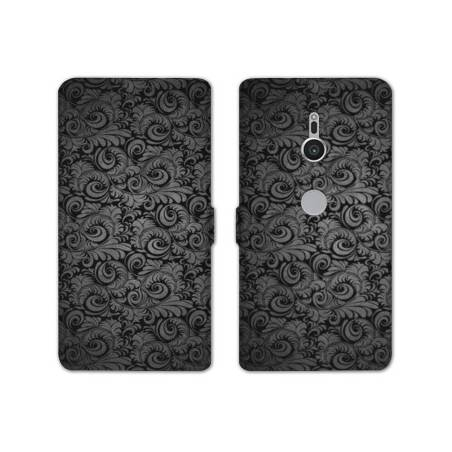 Housse cuir portefeuille Sony Xperia XZ2 Texture