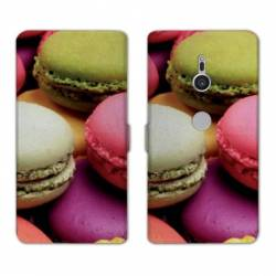 Housse cuir portefeuille Sony Xperia XZ2 Gourmandise