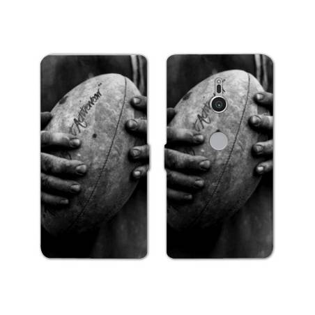 Housse cuir portefeuille Sony Xperia XZ2 Rugby