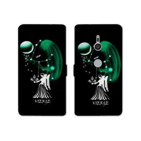 Housse cuir portefeuille Sony Xperia XZ2 signe zodiaque