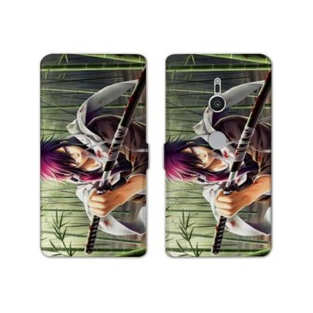 Housse cuir portefeuille Sony Xperia XZ2 Manga - divers