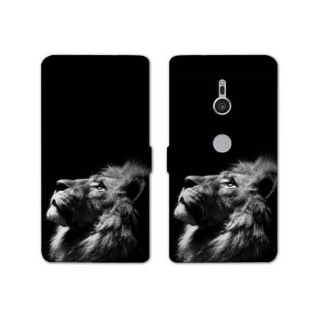 Housse cuir portefeuille Sony Xperia XZ2 felins
