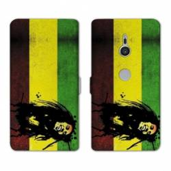 Housse cuir portefeuille Sony Xperia XZ2 Bob Marley