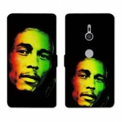 Housse cuir portefeuille Sony Xperia XZ2 Bob Marley