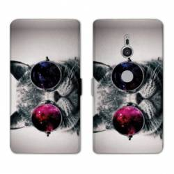 Housse cuir portefeuille Sony Xperia XZ2 animaux 2