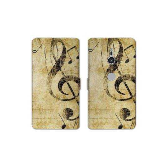 Housse cuir portefeuille Sony Xperia XZ2 Musique