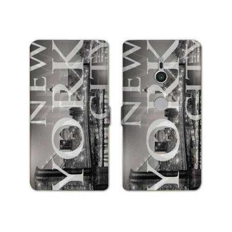 Housse cuir portefeuille Sony Xperia XZ2 Amerique