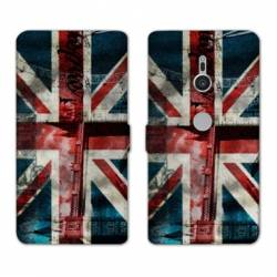 Housse cuir portefeuille Sony Xperia XZ2 Angleterre