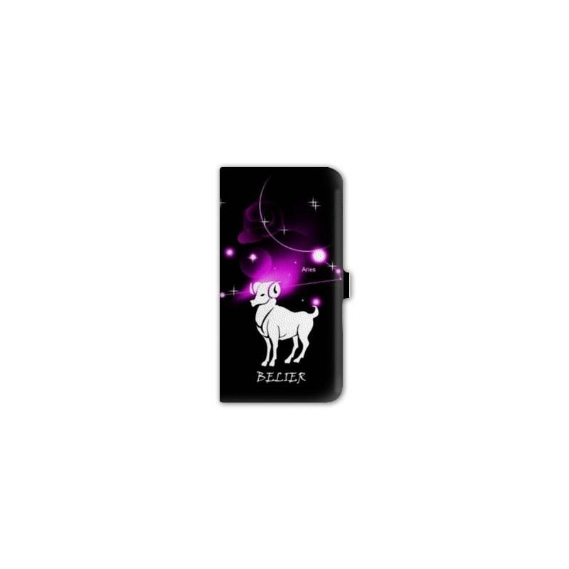 housse cuir portefeuille Iphone 6 plus / 6s plus  signe zodiaque