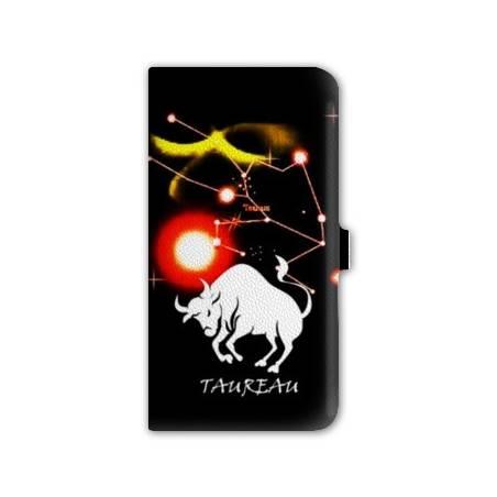 Housse portefeuille cuir Iphone 6 plus +  signe zodiaque