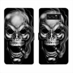 RV Housse cuir portefeuille Samsung Galaxy S10 tete de mort