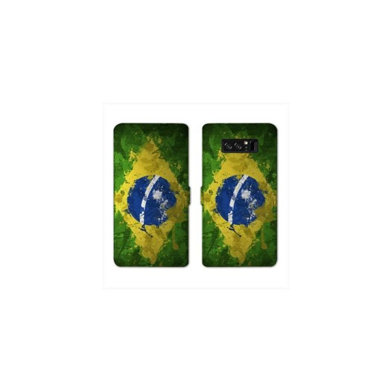 RV Housse cuir portefeuille Samsung Galaxy S10 Bresil