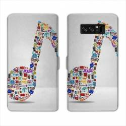 RV Housse cuir portefeuille Samsung Galaxy S10 Musique