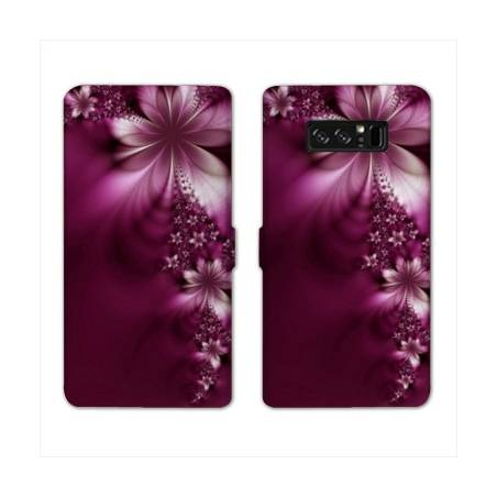 RV Housse cuir portefeuille Samsung Galaxy S10 fleurs