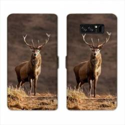 RV Housse cuir portefeuille Samsung Galaxy S10 chasse peche