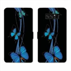 RV Housse cuir portefeuille Samsung Galaxy S10 papillons