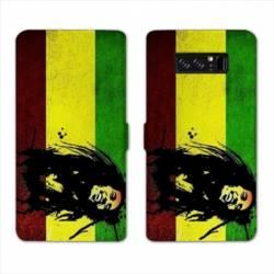 RV Housse cuir portefeuille Samsung Galaxy S10 Bob Marley
