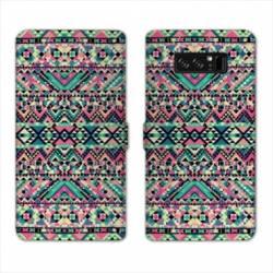 RV Housse cuir portefeuille Samsung Galaxy S10 motifs Aztec azteque
