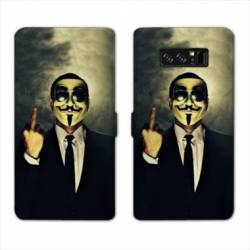 RV Housse cuir portefeuille Samsung Galaxy S10 Anonymous