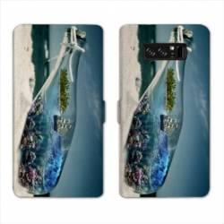 RV Housse cuir portefeuille Samsung Galaxy S10 Mer
