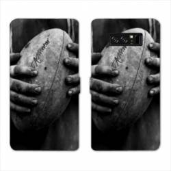 RV Housse cuir portefeuille Samsung Galaxy S10 Rugby
