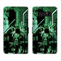 RV Housse cuir portefeuille Samsung Galaxy S10 Trompe oeil