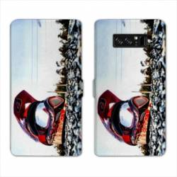 RV Housse cuir portefeuille Samsung Galaxy S10 Moto