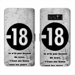 RV Housse cuir portefeuille Samsung Galaxy S10 Humour