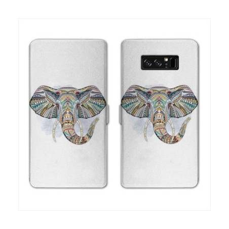 RV Housse cuir portefeuille Samsung Galaxy S10 Animaux Ethniques