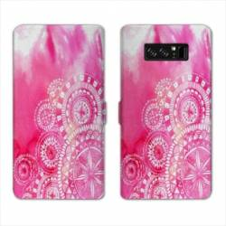 RV Housse cuir portefeuille Samsung Galaxy S10 Etnic abstrait