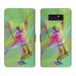 RV Housse cuir portefeuille Samsung Galaxy S10 Tennis