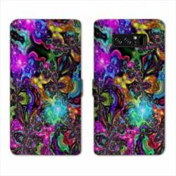 RV Housse cuir portefeuille Samsung Galaxy S10 Psychedelic