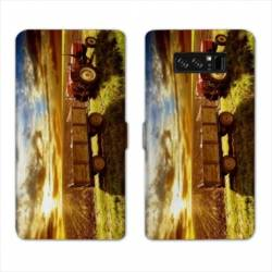 RV Housse cuir portefeuille Samsung Galaxy S10 Agriculture