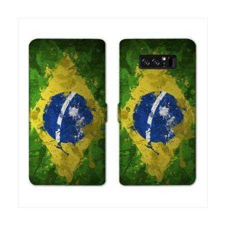 RV Housse cuir portefeuille Samsung Galaxy S10 PLUS Bresil