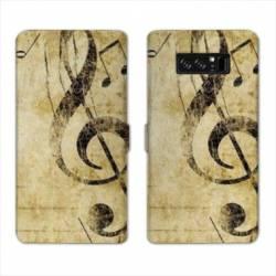 RV Housse cuir portefeuille Samsung Galaxy S10 PLUS Musique