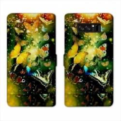 RV Housse cuir portefeuille Samsung Galaxy S10 PLUS papillons