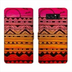 RV Housse cuir portefeuille Samsung Galaxy S10 PLUS motifs Aztec azteque