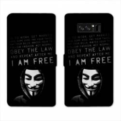 RV Housse cuir portefeuille Samsung Galaxy S10 PLUS Anonymous