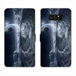 RV Housse cuir portefeuille Samsung Galaxy S10 PLUS Espace Univers Galaxie
