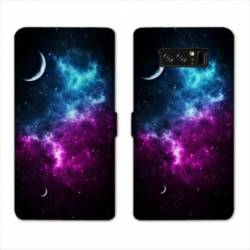 RV Housse cuir portefeuille Samsung Galaxy S10 PLUS Espace Univers Galaxie