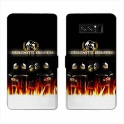 RV Housse cuir portefeuille Samsung Galaxy S10 PLUS pompier police