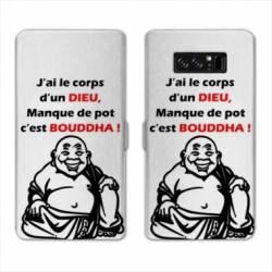 RV Housse cuir portefeuille Samsung Galaxy S10 PLUS Humour