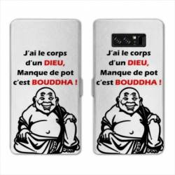 RV Housse cuir portefeuille Samsung Galaxy S10 PLUS Humour