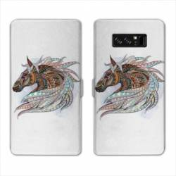 RV Housse cuir portefeuille Samsung Galaxy S10 PLUS Animaux Ethniques