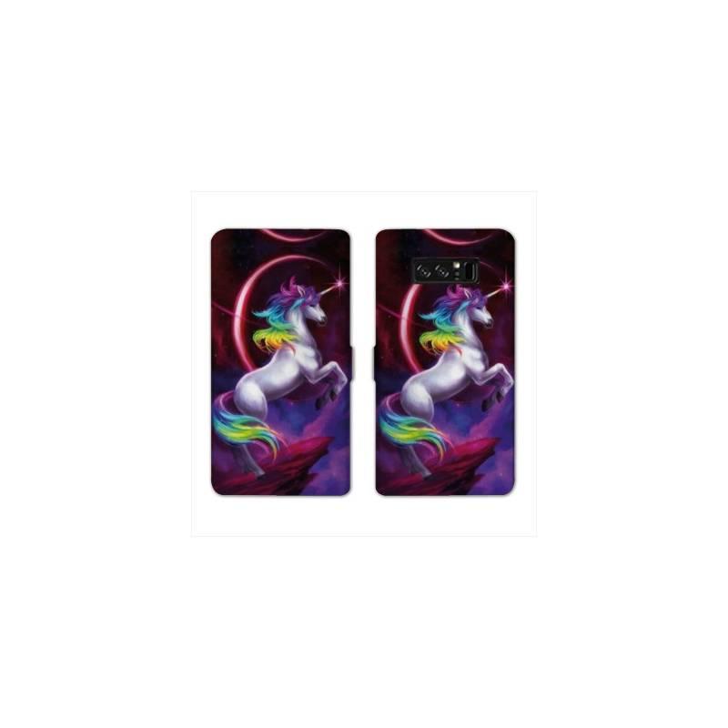 RV Housse cuir portefeuille Samsung Galaxy S10 PLUS Licorne
