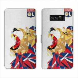 RV Housse cuir portefeuille Samsung Galaxy S10 PLUS License Olympique Lyonnais OL - lion color