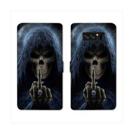 RV Housse cuir portefeuille Samsung Galaxy S10 LITE tete de mort