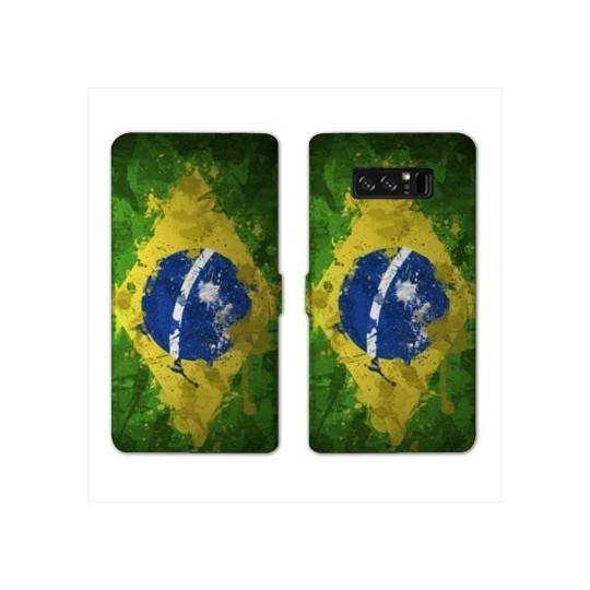 RV Housse cuir portefeuille Samsung Galaxy S10e Bresil